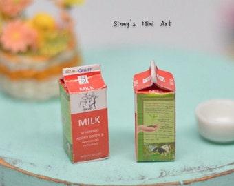 1:12 Dollhouse Miniature Boxed Milk/ Miniature Milk/ Dollhouse Miniature food BD F343