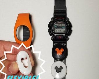 MagicBand 2 / FLEXIBLE / Puck Holder Watch Slider / Fast Pass / Puck Keeper / Smart Watch Band / Apple Watch / Fitbit / Garmin / Disney Gift