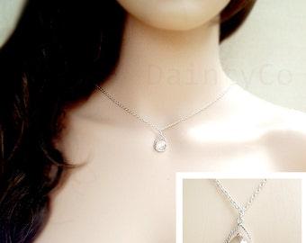Silver Backdrop Necklace back drop necklace backless dress open back dress bridal jewelry v back wedding dress bridesmaid necklace simple