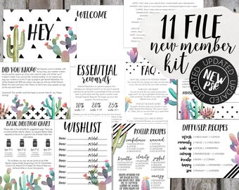 11 File Member Welcome Kit, Oil Welcome Kit, Essential Oil Samples, Essential Oil Accessories, Oil Accessories, Oil Gift, Oil Business Tools