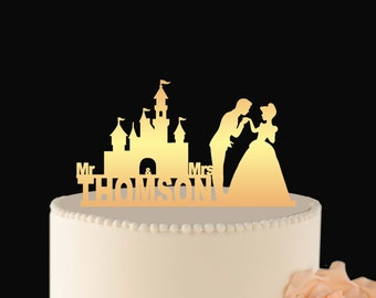 Cinderella Wedding Cake Topper Disney Wedding Cake Topper