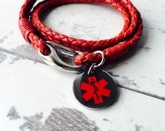 Medical Id Bracelet - Choice of Colour Bracelet