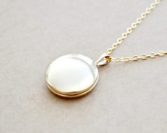 Small Gold Locket Necklace - 14K Gold Filled