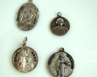Vintage Sterling Catholic Medal Lot