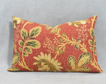 Leaves on Cayenne Lumbar Pillow