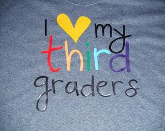 I heart My Third Graders Teacher shirt/ Kids shirt Gift