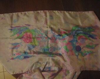Confetti hand painted silk scarf