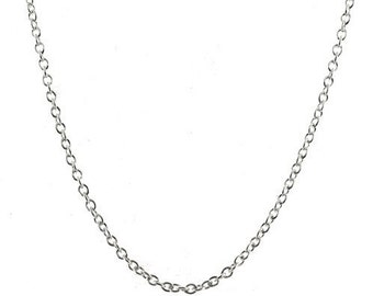 5 pieces 2mm Sterling Silver 32 inch Rolo Chains