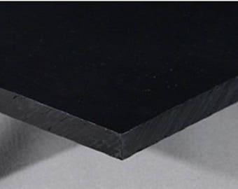 "Hdpe (High Density Polyethylene) Black 1/4"" Thick - PICK YOUR SIZE**"