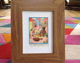 Vintage, Framed 1950's illustration of Noddy