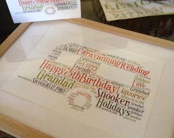 A4 Personalised Word Art Caravan Print (UK ONLY)/Download
