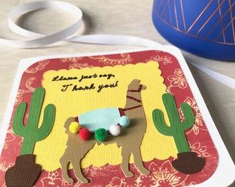 Llama Just Say... Thank You Card