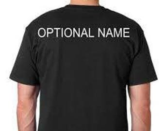 Personalizing the Back of a Shirt