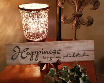 Happiness is a journey, not a destination Laser Etched Ceramic Tile