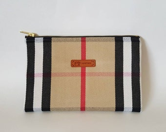 Burberry canvas zippered pouch