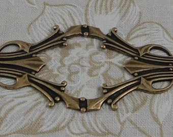 LuxeOrnaments Oxidized Brass Filigree Bracelet Focal 62x28mm (1 pc) F-8170-5-B