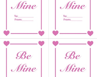 Be Mine, Valentines day card