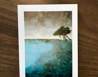 """Greeting Card- """"Cypress Over Monterey Bay"""""""