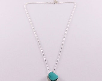 Necklace Mini Feather turquoise