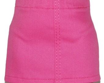 "Bubblegum Pink Stretch Denim Skirt - Doll Clothes fits 18"" American Girl Dolls"