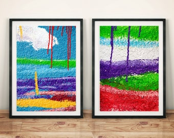 Textured Graffiti Colorful Abstract Original Photography Print Poster