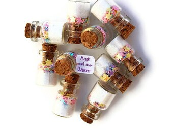 Magic of a Unicorn Jars, Unicorn Party, Unicorn, white, stars