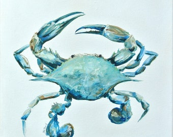Baby Blue Crab   New Orleans artist Paige DeBell.