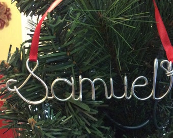 Personalized gift for Christmas,Samuel ornament