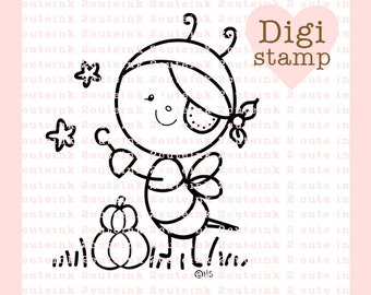 Pirate Bee Digital Stamp - Halloween digi - bee digital art for - Card Making - Paper Crafts - Scrapbooking - Stickers - Coloring Pages