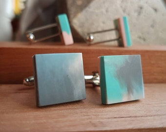 Handmade Cufflinks from Recycled 3D Printer Waste - Mens Fashion
