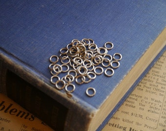 500 pcs HEAVY DUTY  Antique Silver Jump Rings 6mm (SF2843)