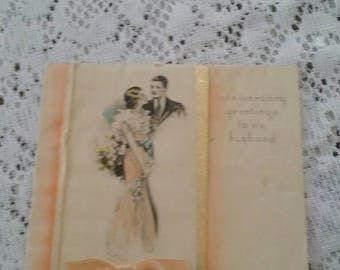 Vintage Anniversary Card From a Wife to Her Husband
