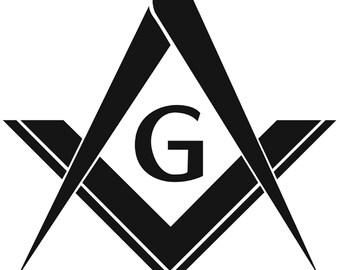 Freemason Compass and Square Vinyl Decal