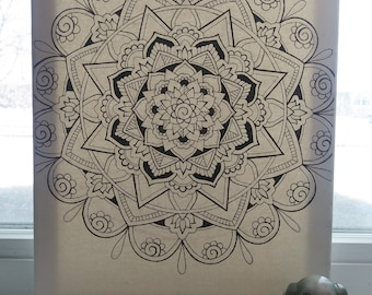 Paint-Your-Own Mandala Canvas