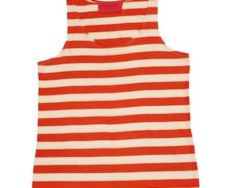 David's Tank in Orange and White Stripes