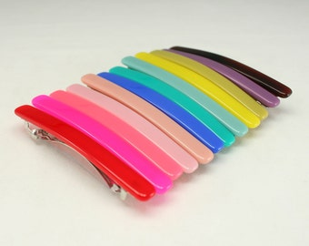 12pcs of 80mm Assorted Color Barrettes with spring Hair Clips Hair Accessories Wholesale Lots hair clips hair crafts suppiles