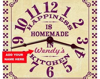 Kitchen Happiness Personalized Kitchen Clock