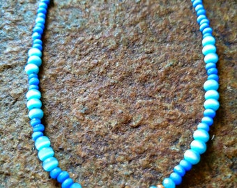 Picasso Czech Glass Drop Bead Necklace