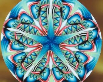 Polymer Clay Circle Kaleidoscope Cane (46dd)