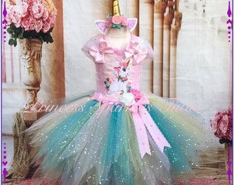 Unicorn Pixie Cut Tutu Dress