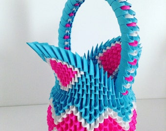 3D Origami Basket  PDF Tutorial