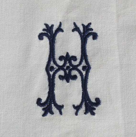 Embroidered Letters, Monograms, Embroidered Initials, Quilt Squares,  Personalised, Craft Supply, UK Seller
