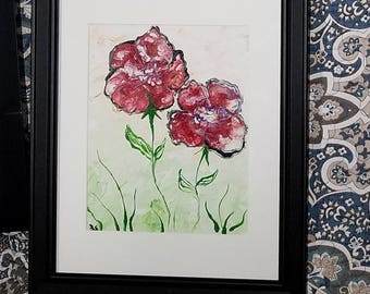Handpainted Floral Abstracts - Framed Paintings - Fine Art