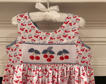 Smocked Cherry Sundress