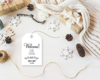 Welcome Tags, Welcome Wedding Tags, Wedding Favor, Wedding Favor Tags, Gift Tags, Party Favor Tags, Wedding Tags, Wedding Gift tags
