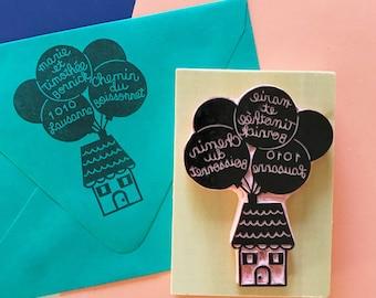 Disney Pixar Up Inspired Custom Handcarved Address Stamp