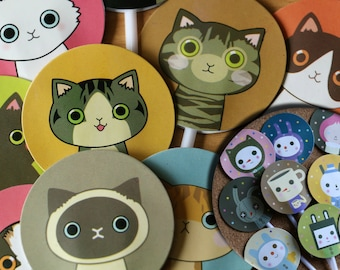 9pcs CATS/DRINKY DOLL Cupcake toppers/food picks/decorations, cup of cofee, rabbit, cat