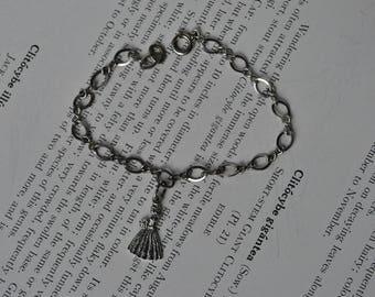 Vintage Sterling Charm Bracelet - 1960s Bride Charm Bracelet, Wedding Gift,