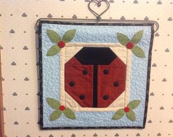 Ladybug wall hanging