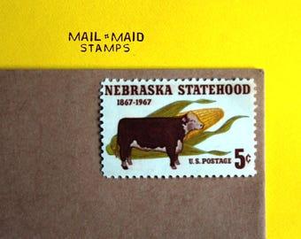 Nebraska Statehood    Set of 10 unused vintage postage stamps